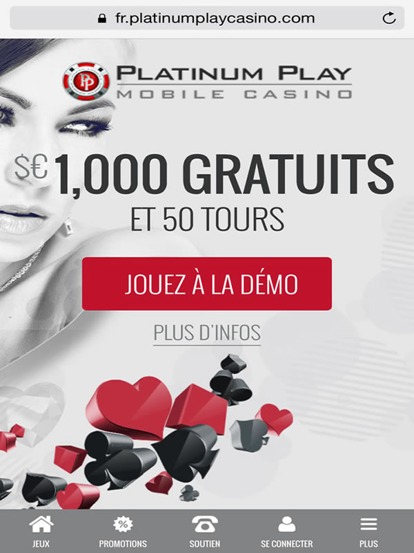 Platinum Play Casino sur Google Pixel