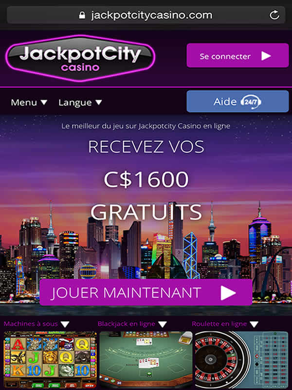 Jackpot City sur iPhone et iPad