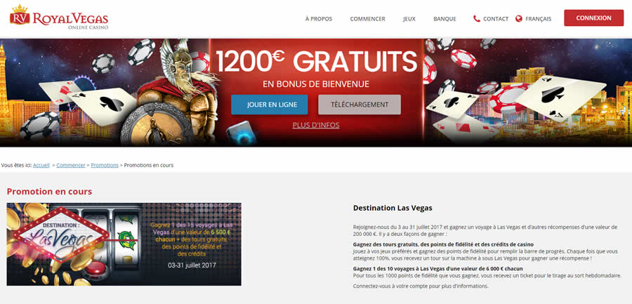 Royal Vegas Casino : Promotion de Juillet