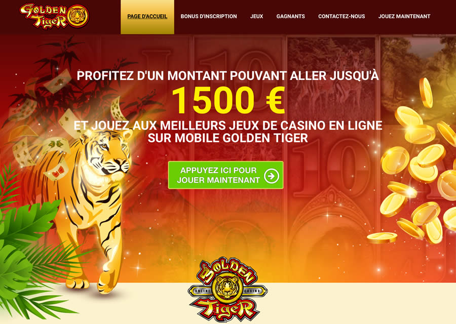 Golden Tiger : CAD 1500$ de Bonus Casino