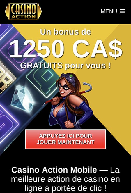 Casino Action sur iPhone et Android