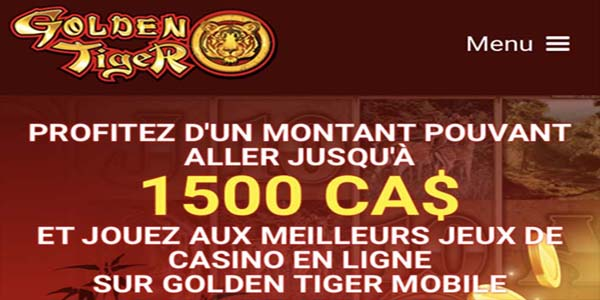 Golden Tiger - casino en ligne porteur de chance