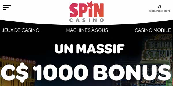 Spin Casino Palace au Canada