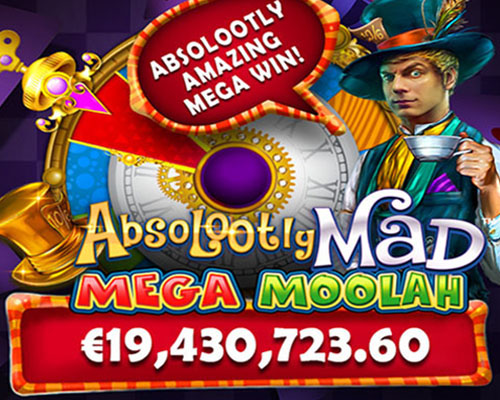 Jackpot record gagné sur Absolootly Mad